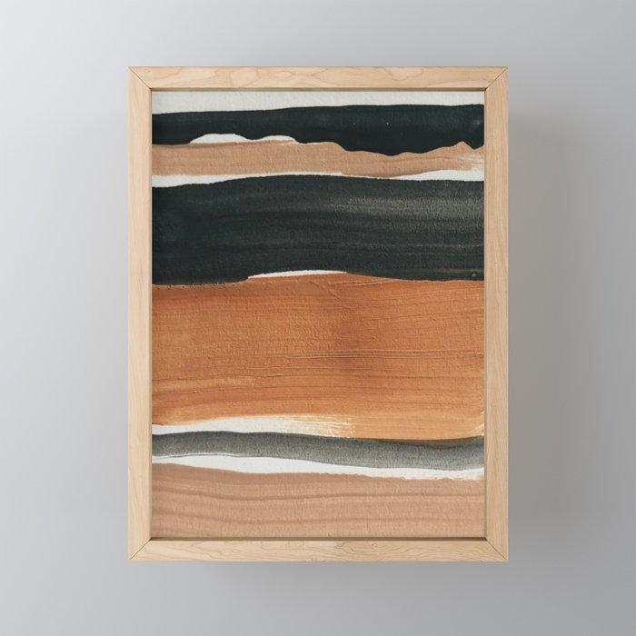 abstract minimal 12 Framed Mini Art Print