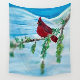 Little Red Cardinal Wall Tapestry