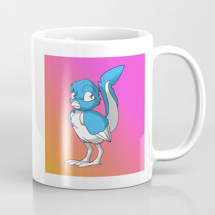 Light Blue Color Or Paint Your Own Reptilian Bird 3 Artofganenek Animal Coffee Mug