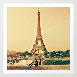Sitting in Paris Art Print