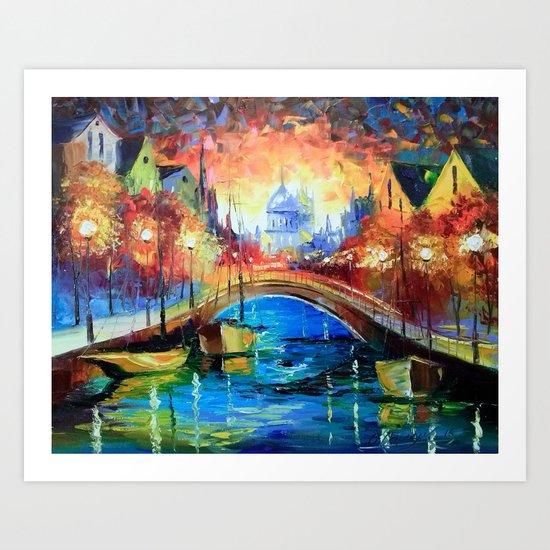 Evening Amsterdam Art Print