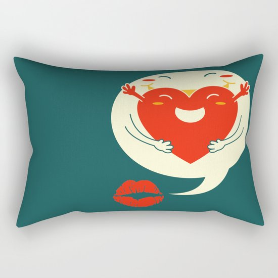 say u love me Rectangular Pillow by Steven Toang Society6