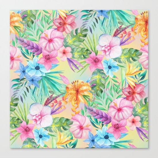 Wispy Summer Floral Canvas Print