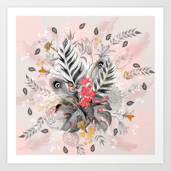 Abstract nature collage Art Print