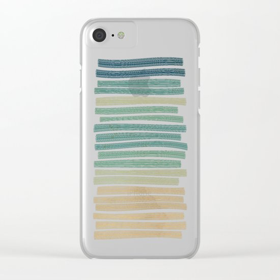 Sand and sea Clear iPhone Case