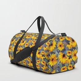 Black-eyed Susan Pattern Duffle Bag