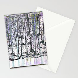 brazzeau forest mashup Stationery Cards
