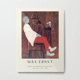 Poster-Max Ernst-Pieta (La Révolution de nuit). Metal Print