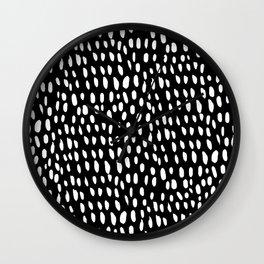 dottie in reverse Wall Clock