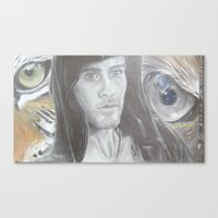 jared leto Canvas Prints featuring Jared Leto by Equalsnine-art