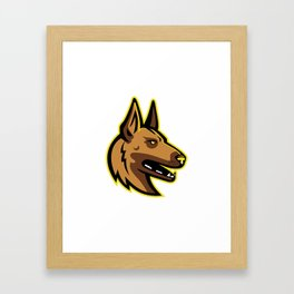 Belgian Malinois Dog Mascot Framed Art Print