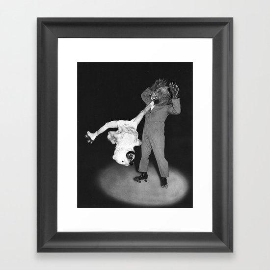 Roller Bears Framed Art Print