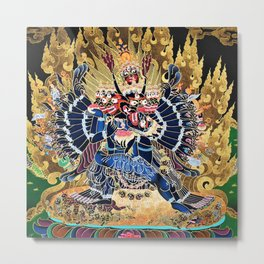 Buddhist Vajrabhairava Demon Deity 4 Metal Print