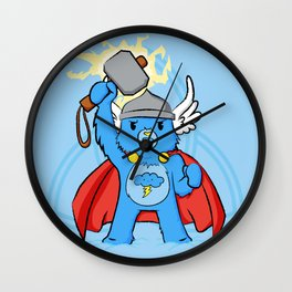 Thor, bear of thunder Wall Clock