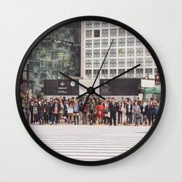 shibuya crossing Wall Clock