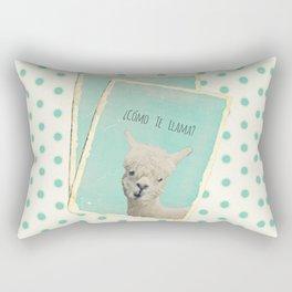 COMOTE LLAMA ? MINT Rectangular Pillow