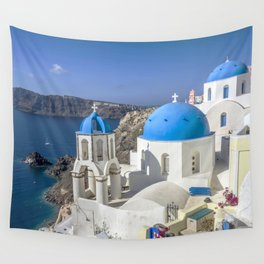 Santorini, Oia Village, Greece Wall Tapestry