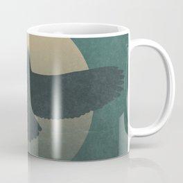 Soaring Eagle Flying Under Moon Light Coffee Mug
