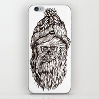 chewbacca iPhone & iPod Skins featuring Hipster Chewbacca  by LaurenNoakes