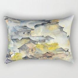 Morning in Chinese Village Rectangular Pillow