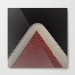 Red Corner Metal Print