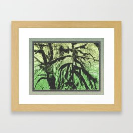 RAINFOREST SOULS SHAPED BY MOSS Framed Art Print