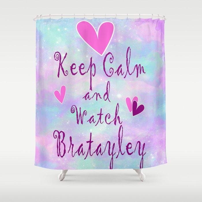 Bratayley Keep Calm Shower Curtain