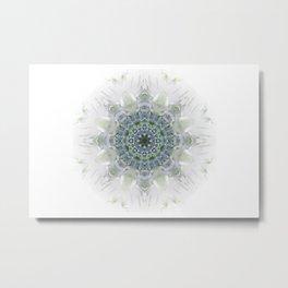Light Birch Mandala Metal Print