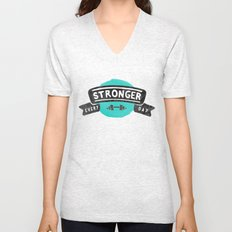Stronger Every Day (dumbbell) Unisex V-Neck
