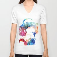 audrey hepburn V-neck T-shirts featuring Audrey Hepburn by NoMoreWinters