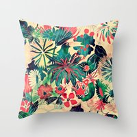 jungle Throw Pillows featuring Jungle by Demi Goutte