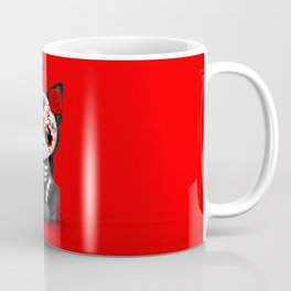 Cute Red Day of the Dead Kitten Cat Coffee Mug