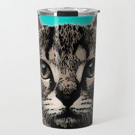 Cat. Pop art cat Travel Mug
