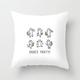 Moo Dance Party Throw Pillow