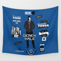 teen wolf Wall Tapestries featuring Derek Hale Quotes Teen Wolf by Alice Wieckowska