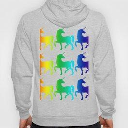 (tshirt) (tshirt) Basic unicorn1 (3x3) (vertical rainbow) Hoody