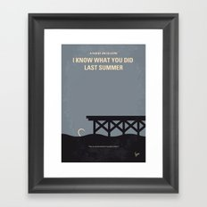 No650 My I Know What You Did Last Summer minimal movie poster Framed Art Print
