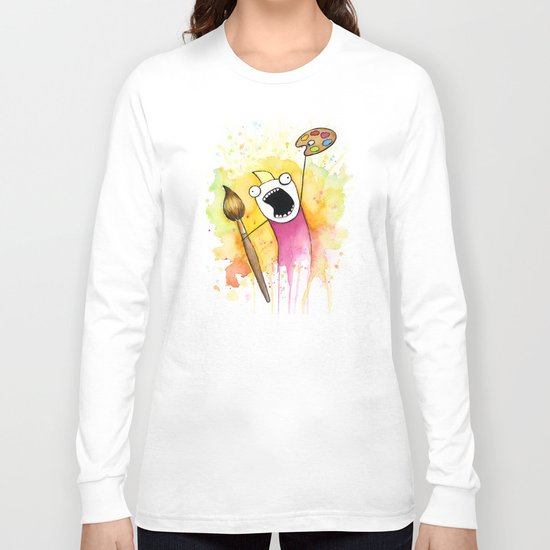 Meme Painting Long Sleeve T-shirt