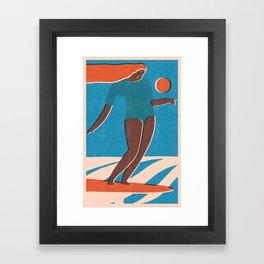Sunset fun Framed Art Print