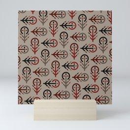 Blood Tree Maze - Rustic Version - Runic Tree Inspired Pattern Mini Art Print