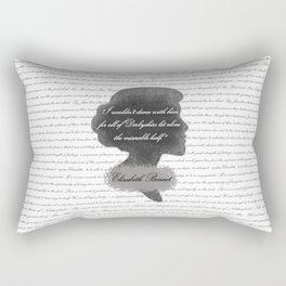 Elizabeth Bennet - Quote about Mr. Darcy Rectangular Pillow