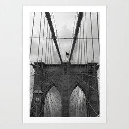Brooklyn Bridge Cables Art Print
