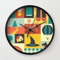 oz Wall Clocks featuring Oz by Ariel Wilson