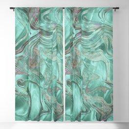 Mint Gem Green Marble Swirl Blackout Curtain