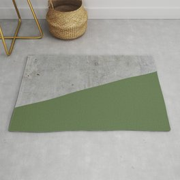 Concrete and Kale Color Rug