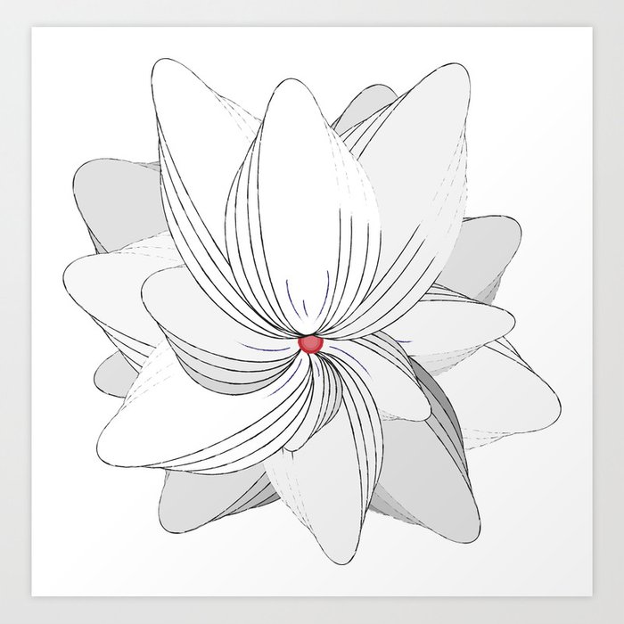 The Flower of my Heart Art Print