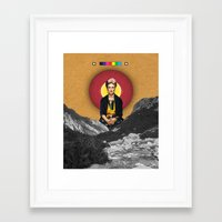 frida Framed Art Prints featuring FRIDA by Estera Lazowska