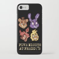 fnaf iPhone & iPod Cases featuring FNAF Five Nights At Freddy's by Kam-Fox