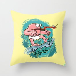 Curious Case of Indestructible Fly Throw Pillow