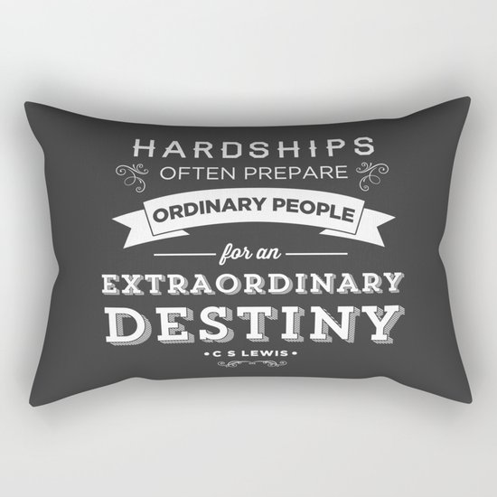 CS Lewis - Extraordinary Rectangular Pillow